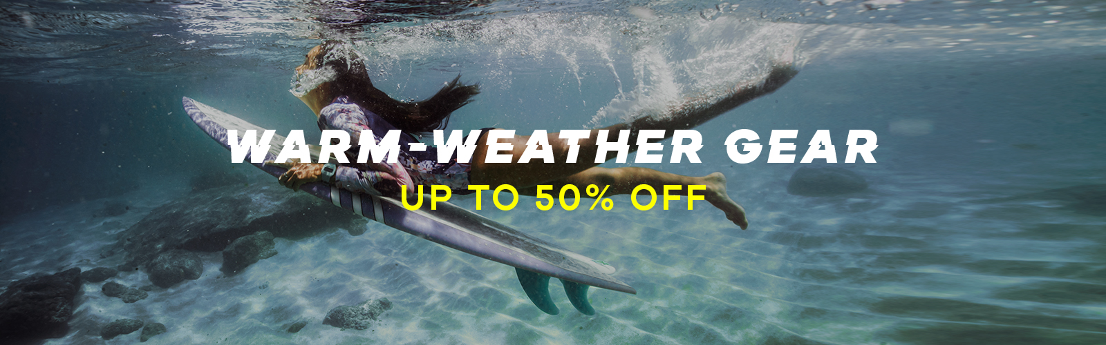 Warm-weather gear | Up to 50% off